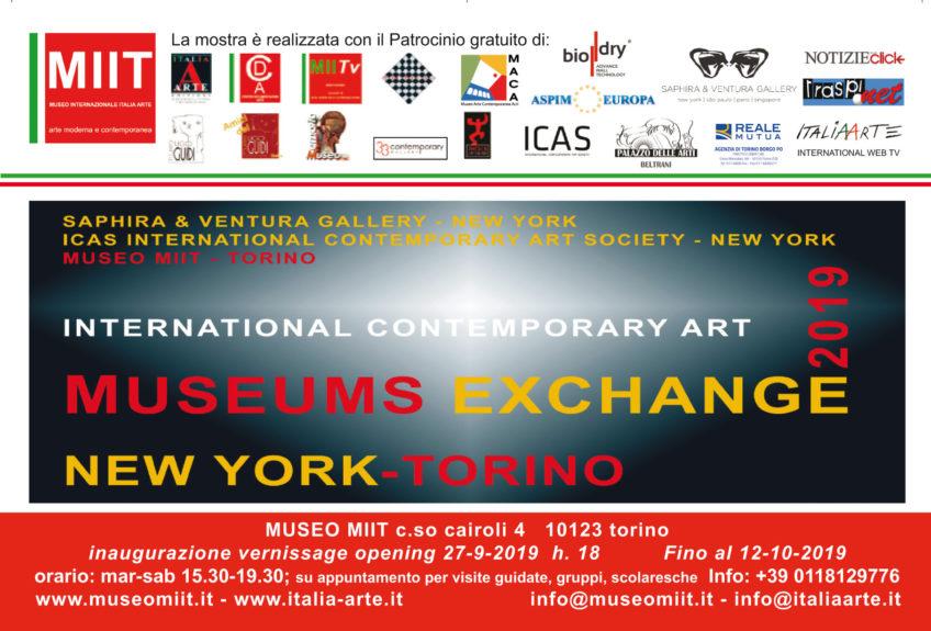 'MUSEUMS EXCHANGE. NEW YORK-TORINO' – DAL 27 SETTEMBRE AL 12 OTTOBRE 2019