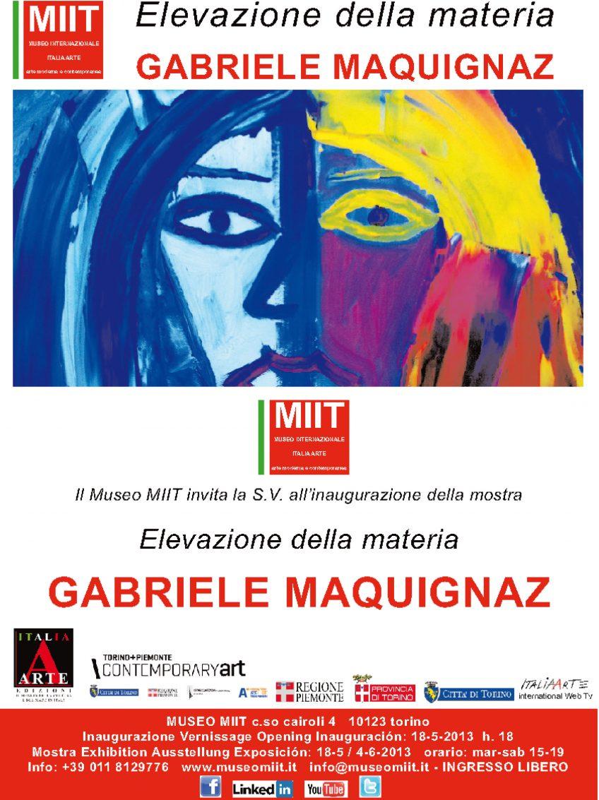 'ELEVAZIONE DELLA MATERIA: GABRIELE MAQUIGNAZ'