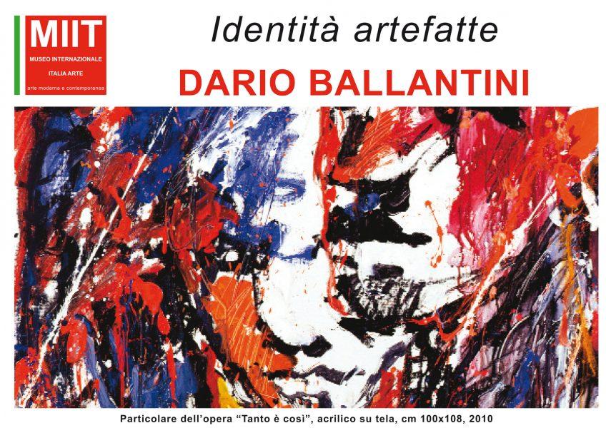 'IDENTITA' ARTEFATTE: DARIO BALLANTINI'