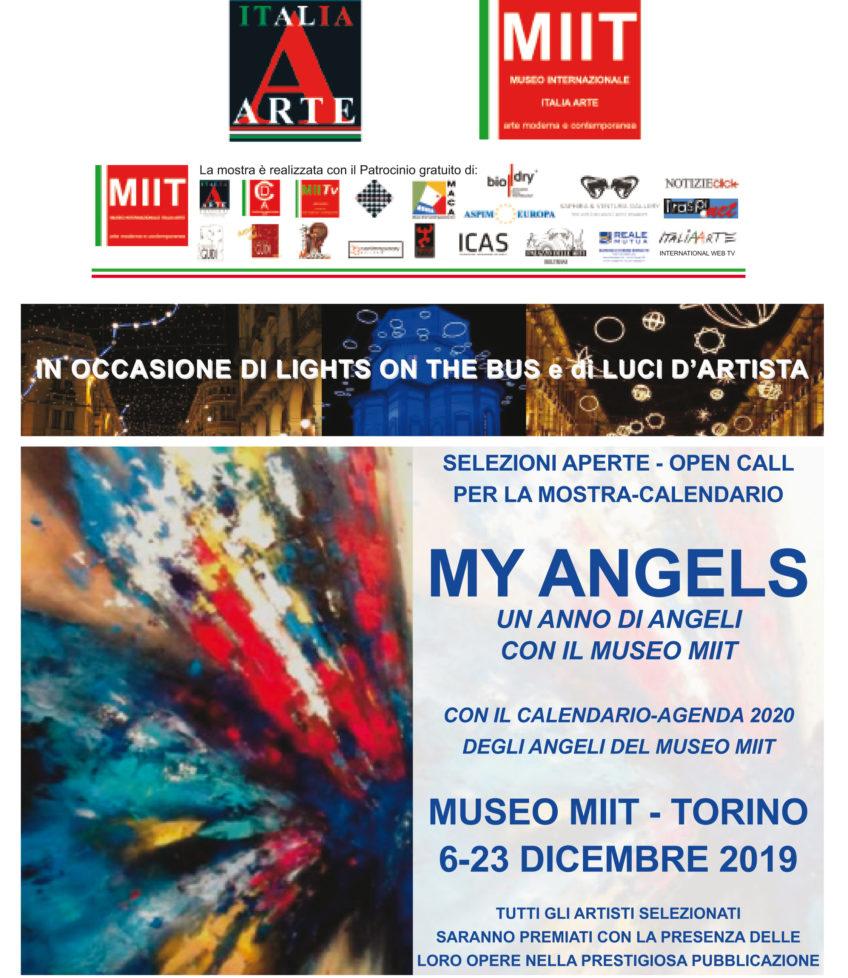 MY ANGELS. UN ANNO DI ANGELI CON IL MUSEO MIIT' – AGENDA CALENDARIO 2020 – MUSEO MIIT – ESPOSIZIONE DAL 6 AL 23 DICEMBRE 2019