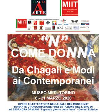 'N COME DONNA. DA CHAGALL E MODI' AI CONTEMPORANEI' – DAL 6 AL 21 MARZO 2020