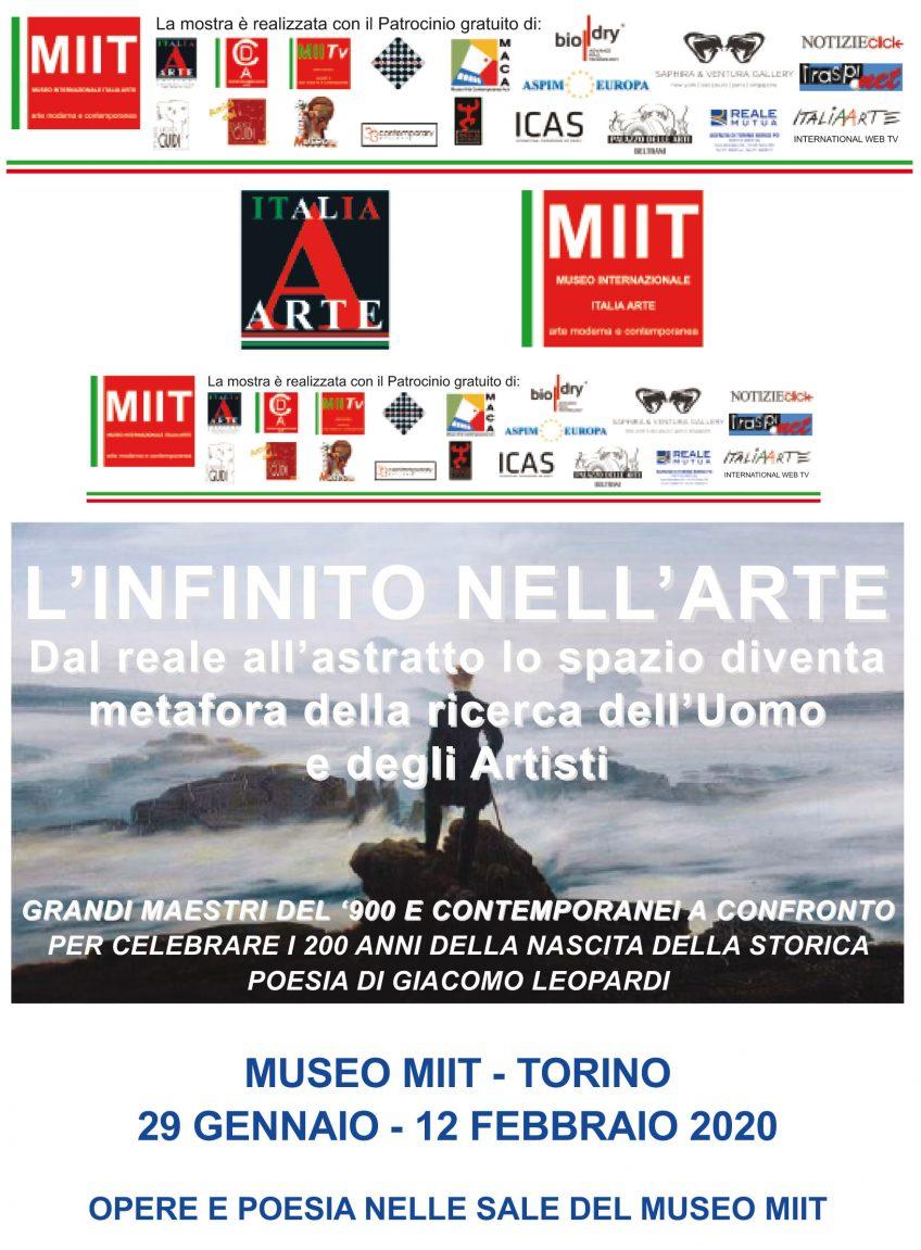 'L'INFINITO NELL'ARTE' – DAL 29 GENNAIO 2019 AL 22 FEBBRAIO 2020