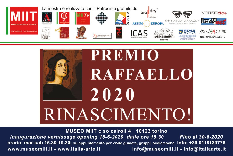 PREMIO RAFFAELLO 2020 – DAL 18 AL 30 GIUGNO 2020