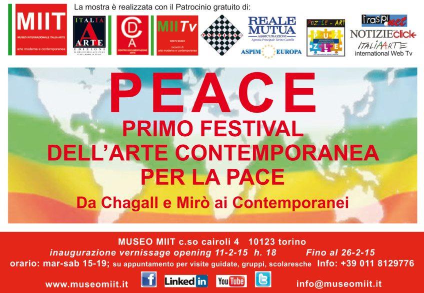 'PEACE' – DALL' 11 AL 26 FEBBRAIO 2015