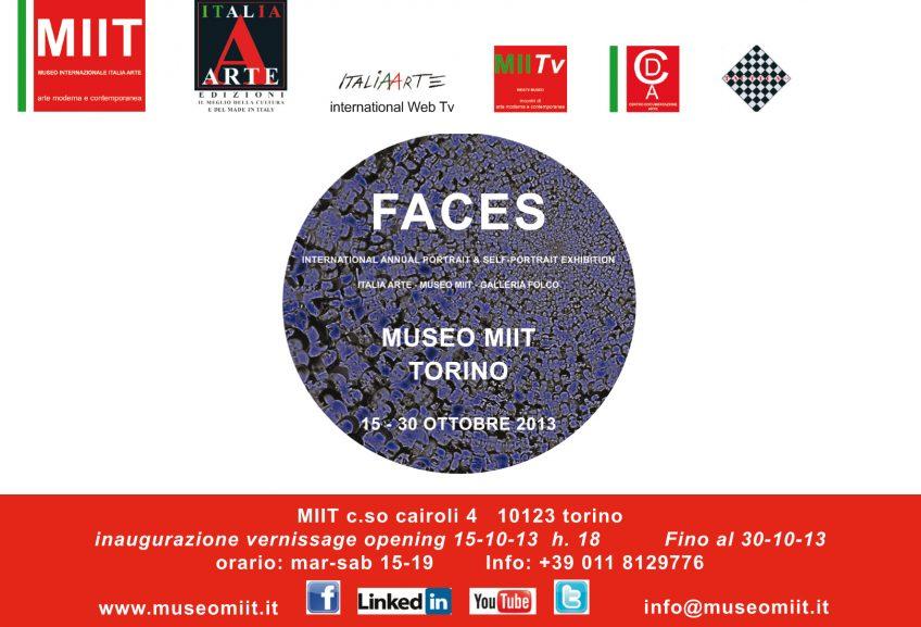 'FACES' – DAL 15 AL 30 OTTOBRE 2013