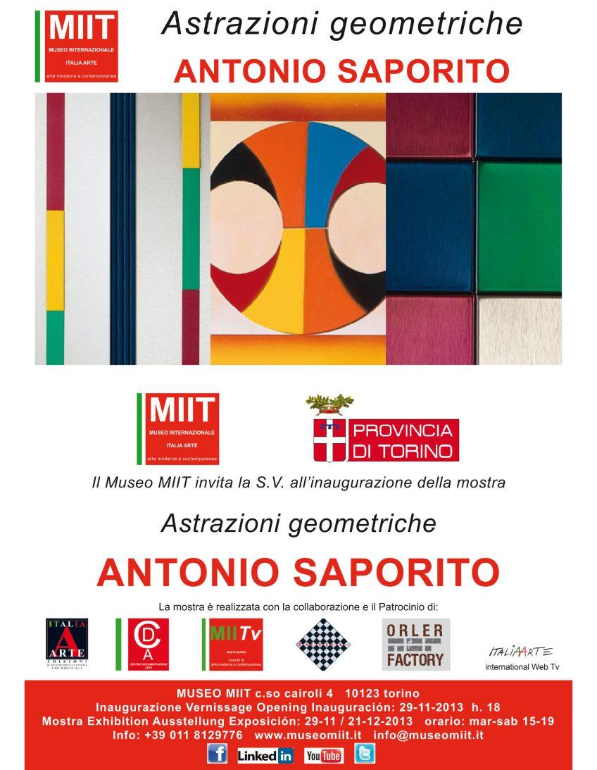 'ANTONIO SAPORITO – ASTRAZIONI GEOMETRICHE' – DAL 29 NOVEMBRE AL 21 DICEMBRE 2013