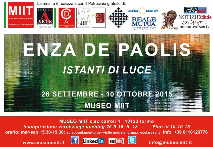'ENZA DE PAOLIS' – DAL 26 SETTEMBRE – AL 10 OTTOBRE 2015