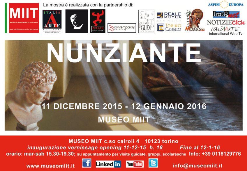'NUNZIANTE' – DALL'11 DICEMBRE 2015 AL 12 GENNAIO 2016