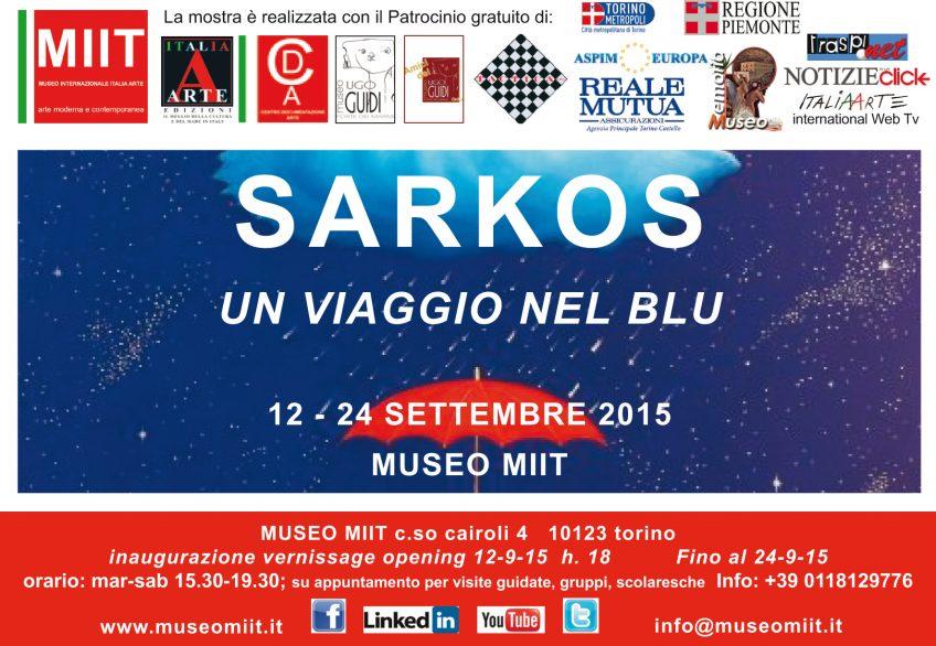 'SARKOS' – UN VIAGGIO NEL BLU – DAL 12 AL 24 SETTEMBRE 2015