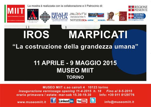 'IROS MARPICATI' – DALL'11 APRILE AL 9 MAGGIO 2015