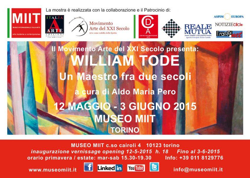 'WILLIAM TODE' – DAL 12 MAGGIO  AL 3 GIUGNO 2015