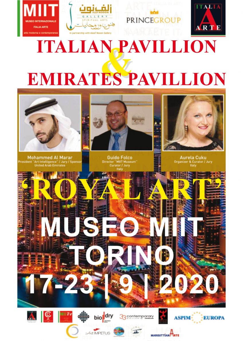 'ITALIA IN ARTE – ARTISSIMA ART GALLERY – ITALIAN PAVILLION & EMIRATES PAVILLION – ROYAL ART' – DAL 17 AL 23 SETTEMBRE 2020