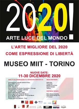 '2020! ARTE LUCE DEL MONDO – DALL' 11 AL 30 DICEMBRE 2020