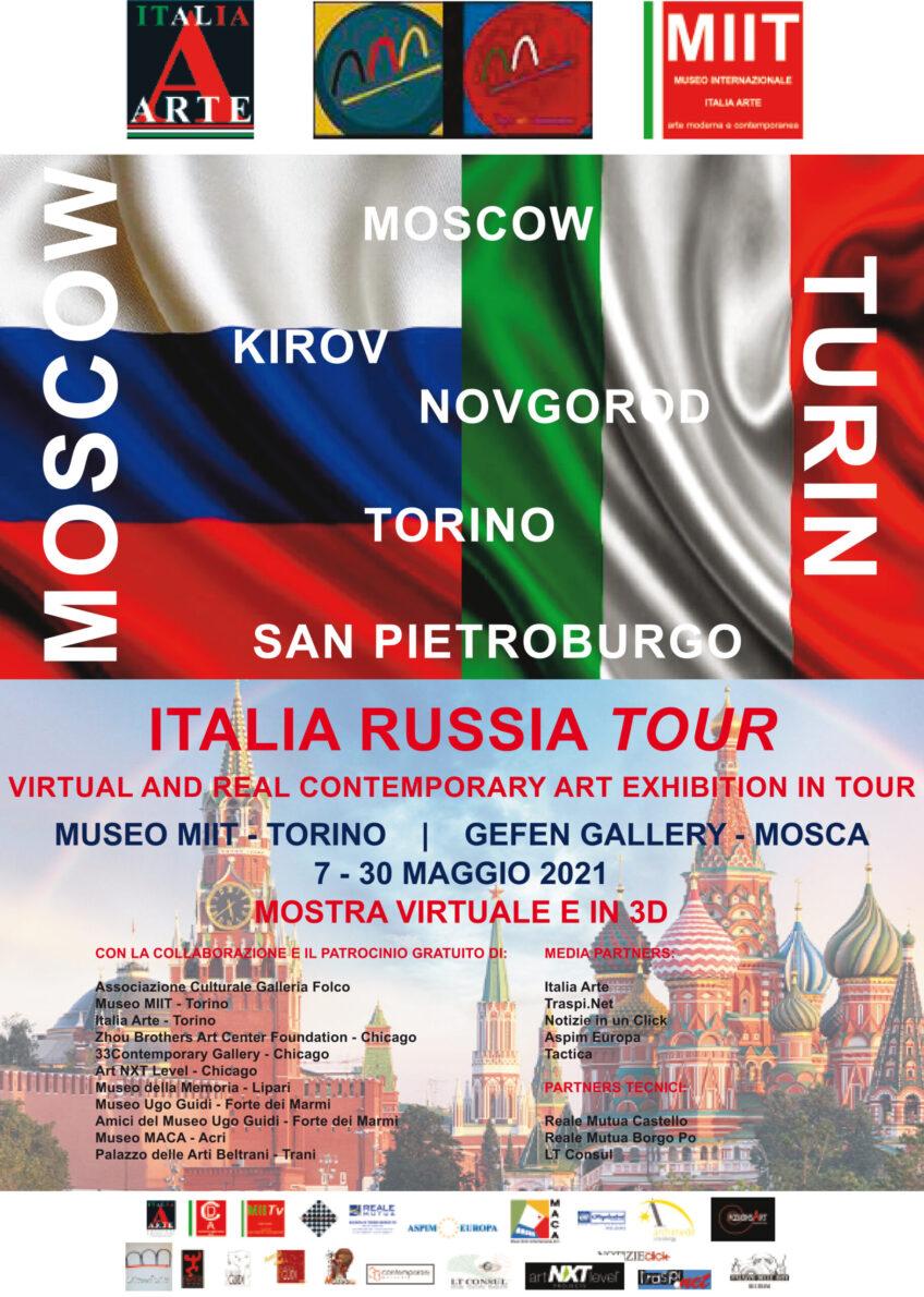 'ITALIA RUSSIA TOUR   MOSCOW-TURIN' MOSTRA IN VIDEOPROIEZIONE E IN 3D – DAL 7 AL 30 MAGGIO 2021